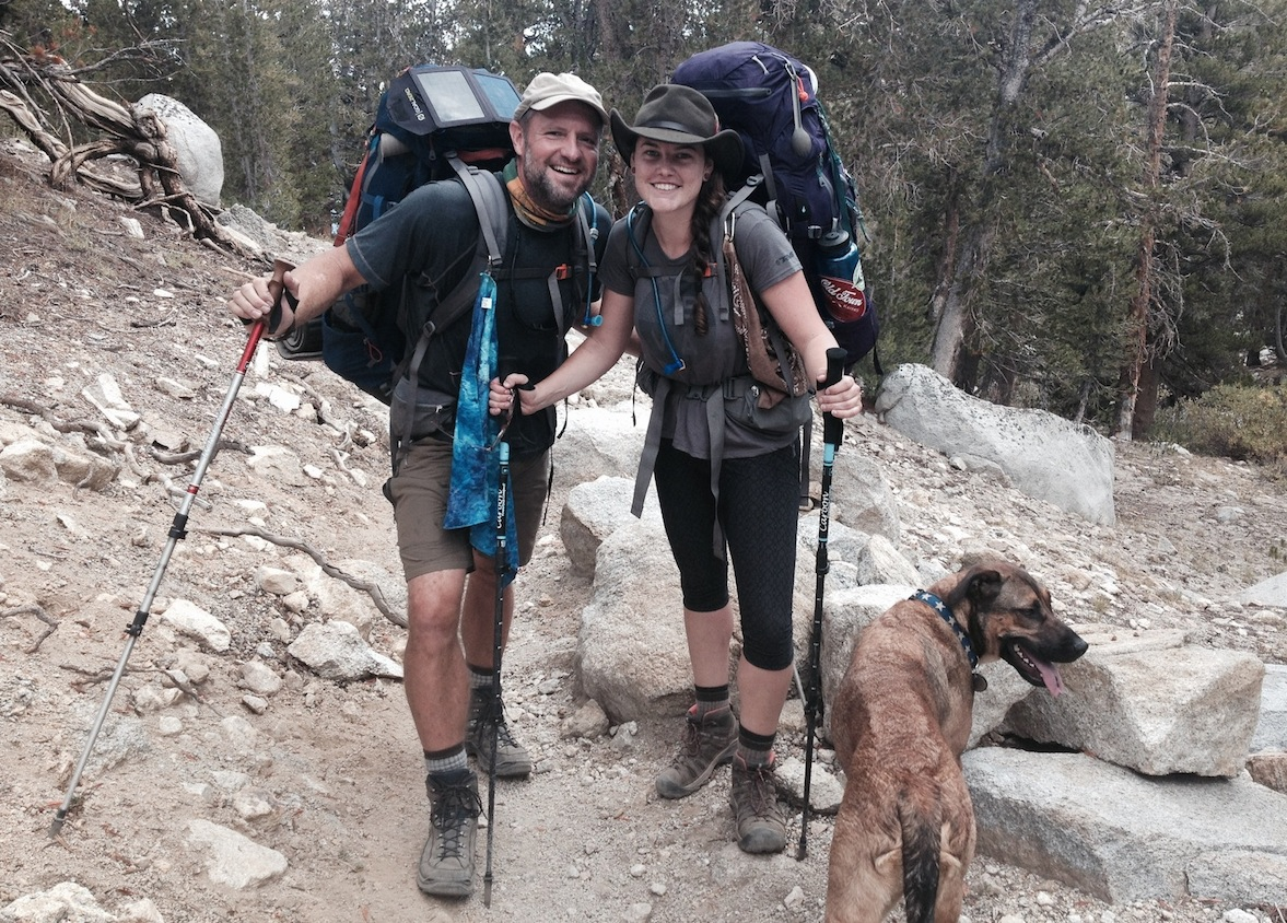 Geoff and Britt from Folsom are headed up to Kearsarge Pass on their way to Mt. Whitney