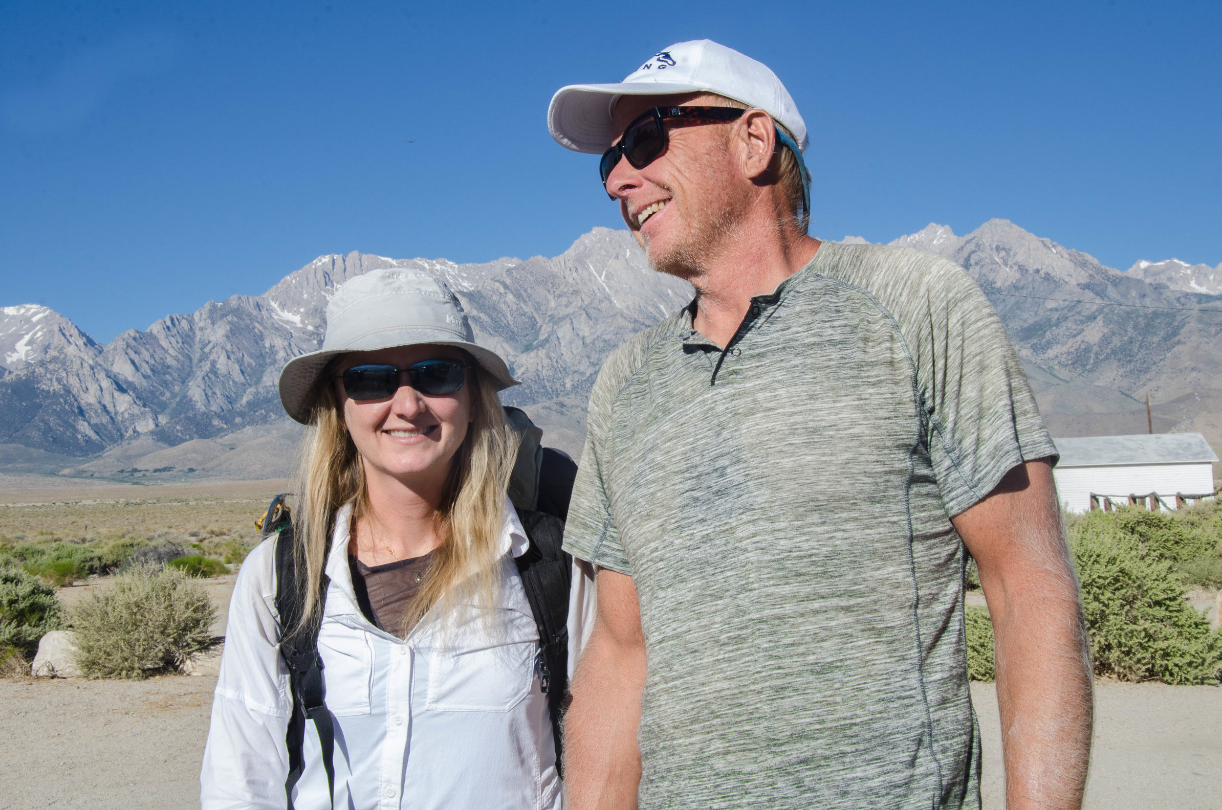 Katherine and Bob celebrating their Honeymoon on the High Sierra Trail