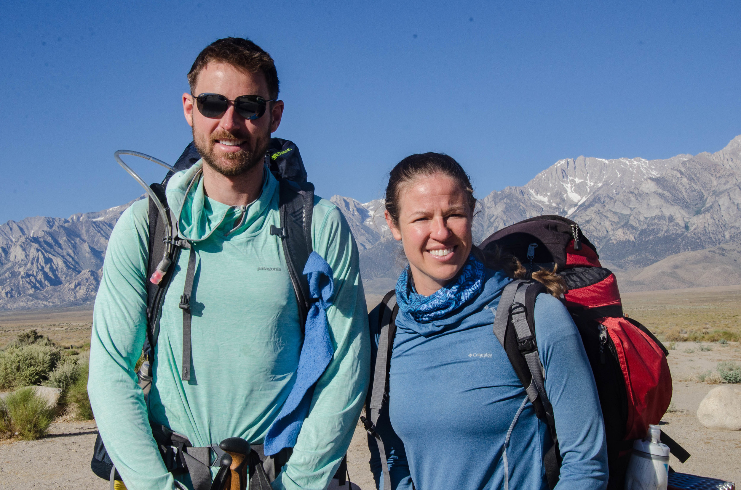 Robert and Kira heading SOBO on the JMT