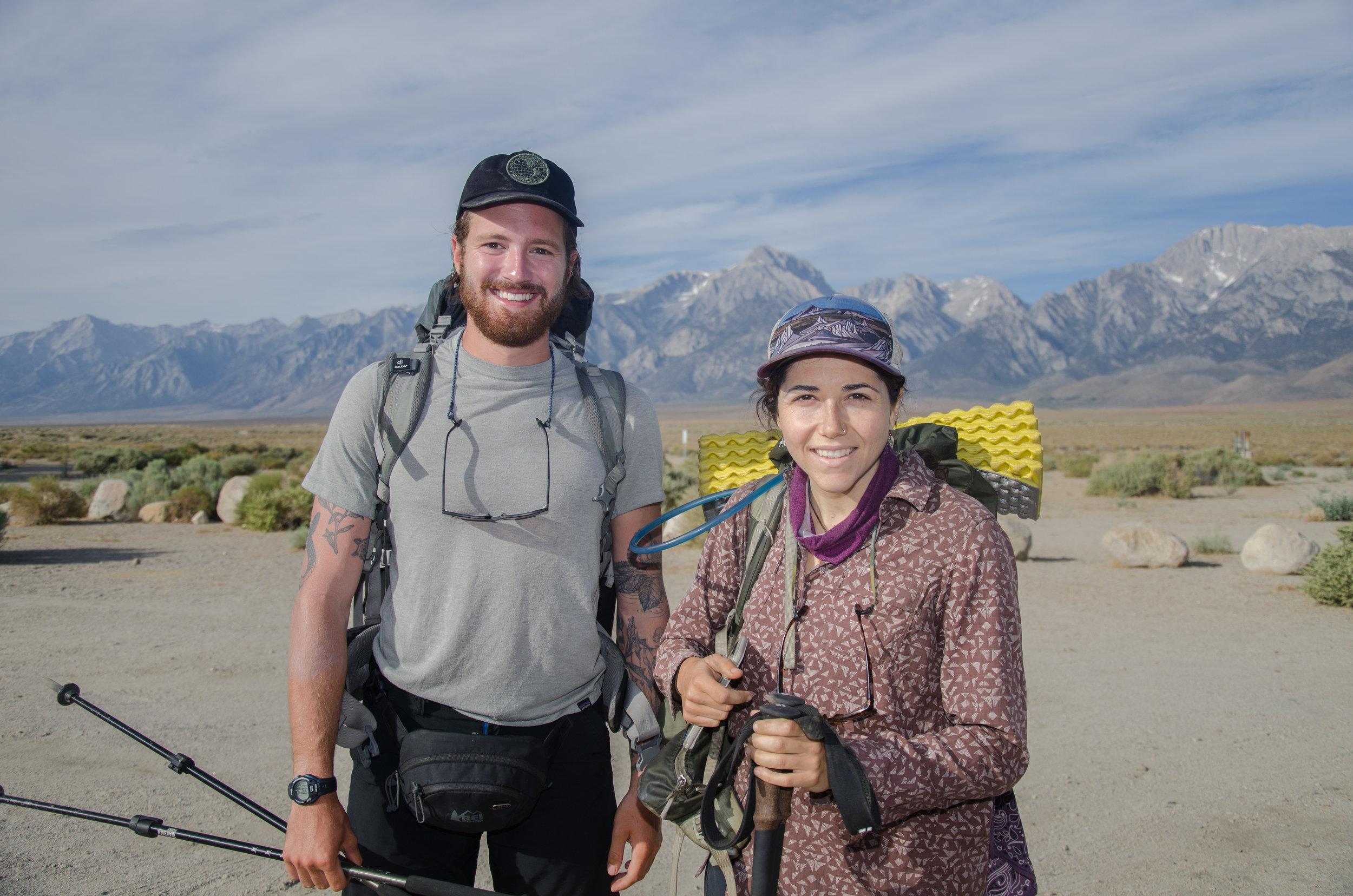 JMT Hikers Nina and friend