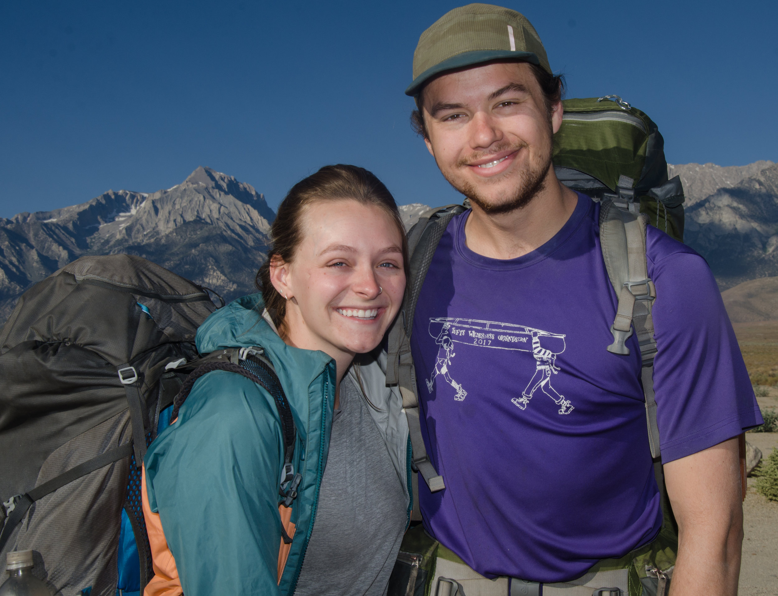 SOBO JMT Hikers Andrew and Grace