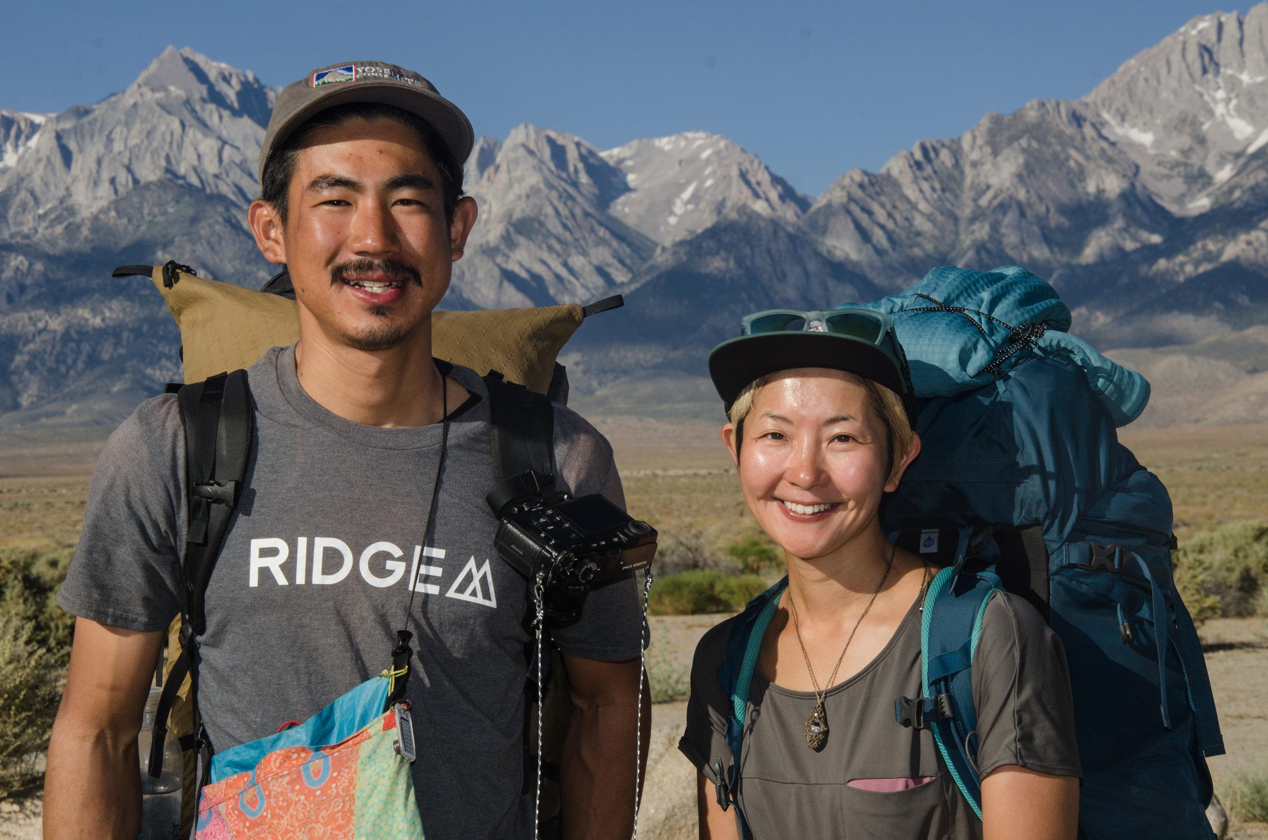 JMT hikers from Japan Riku and Arisa