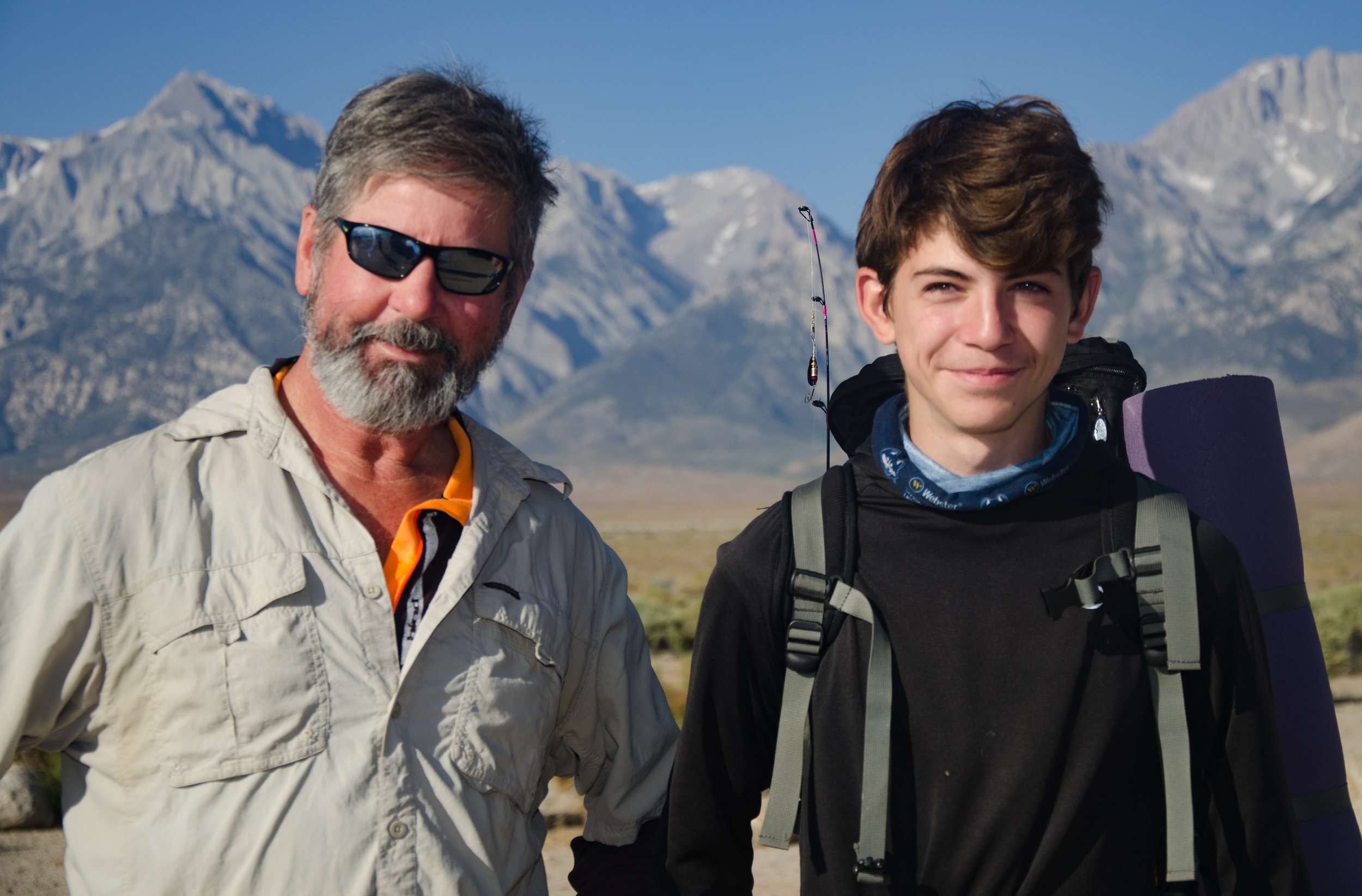 JMT hikers Mark and his Grandson