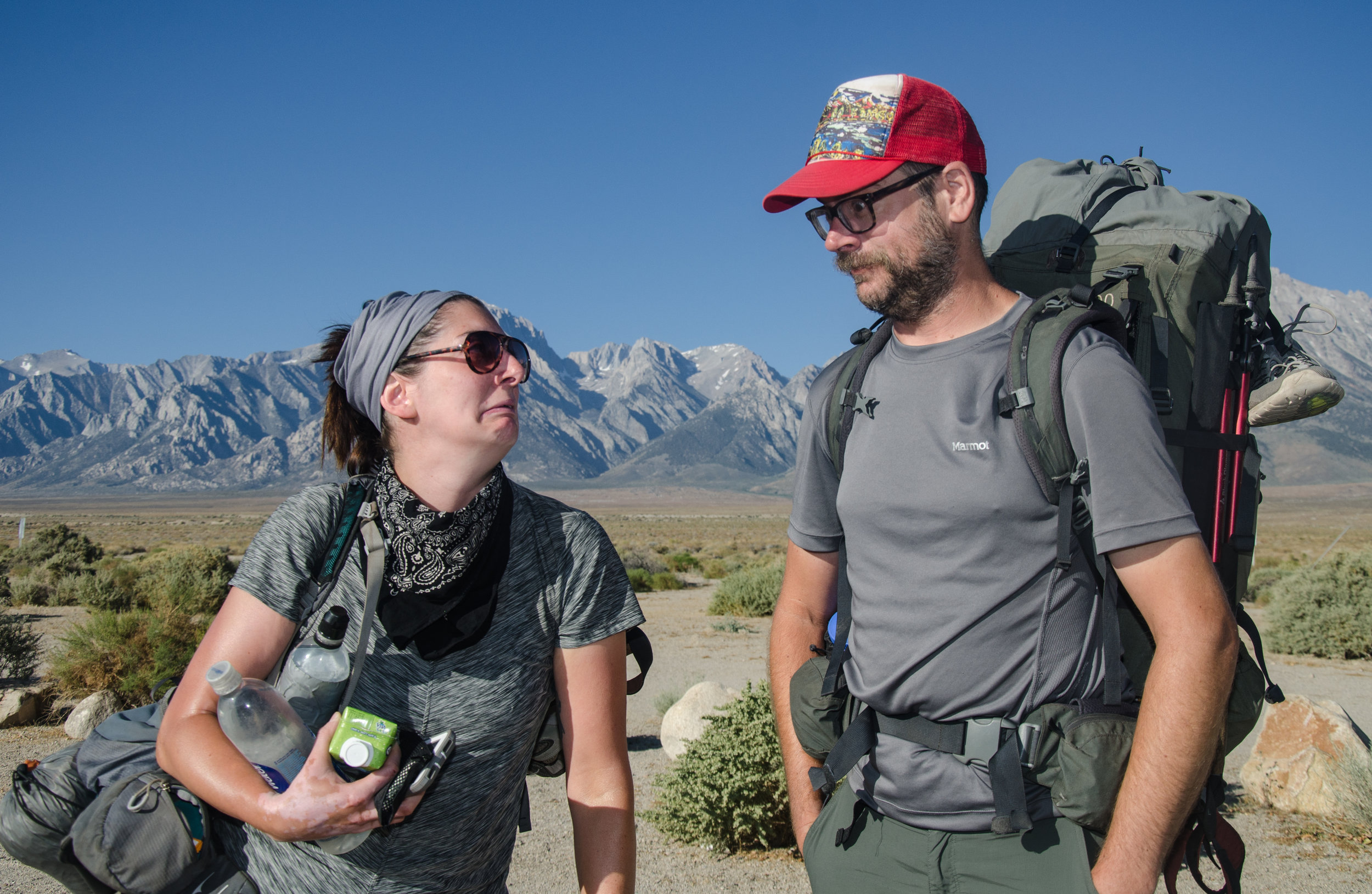 JMT hikers Laura and Wesley