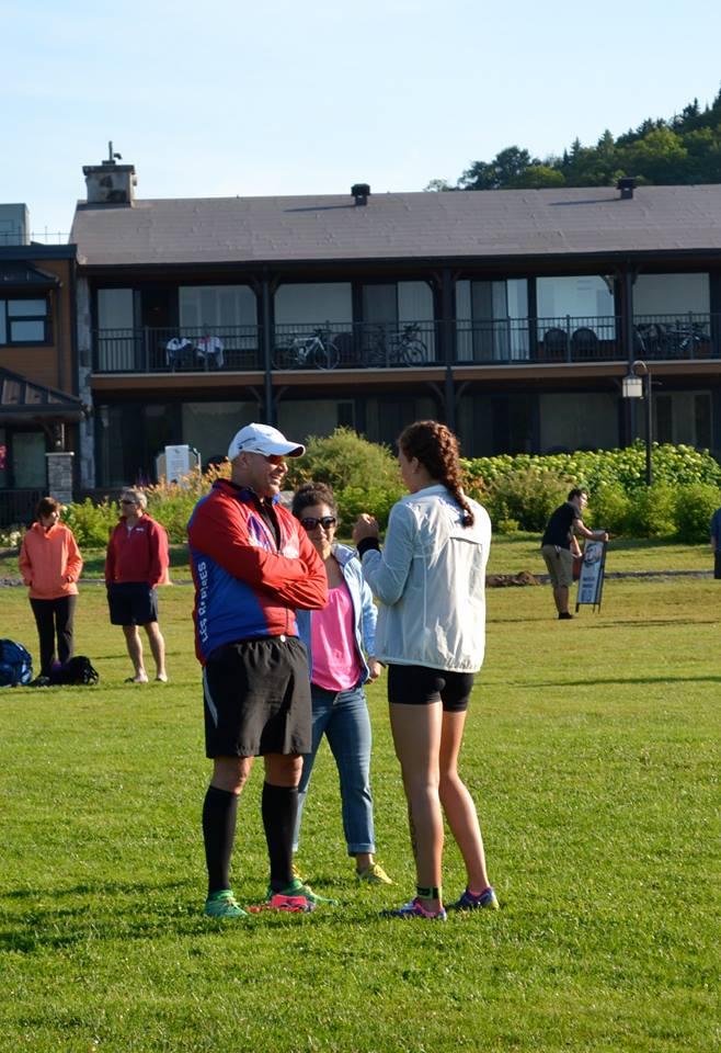 Discussion avec mon coach Raymond et Sylvie.
