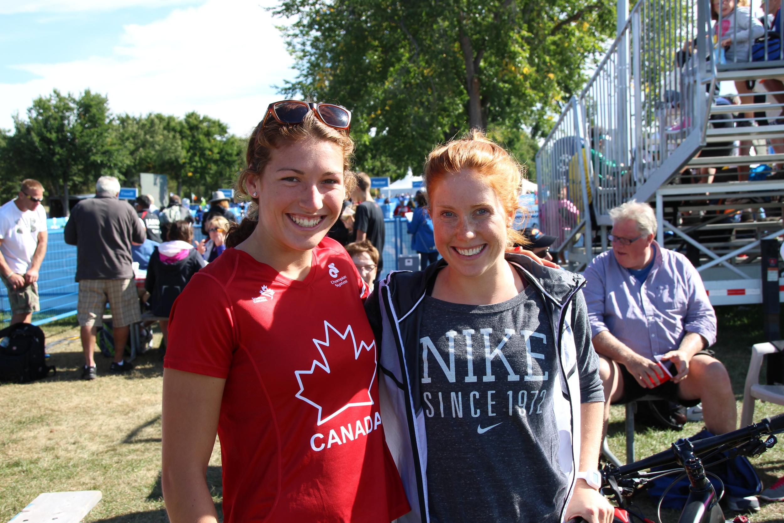 Une belle rencontre avec Paula Finlay ;l' olympienne canadienne.
