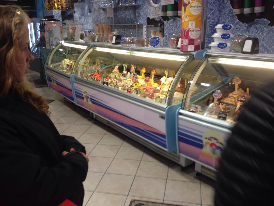 Les gelatos avec Émy et Jer