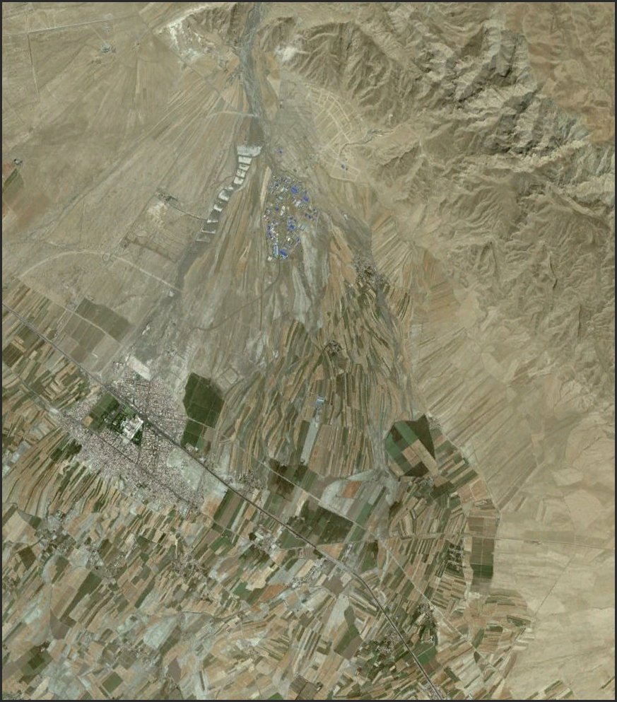 A stellar example of adaptive management...at least as far as I am concerned. The pattern of agricultural fields aligned on the marginal segment of this large alluvial fan in NE Iran is startlingly harmonious with the underlying geology.