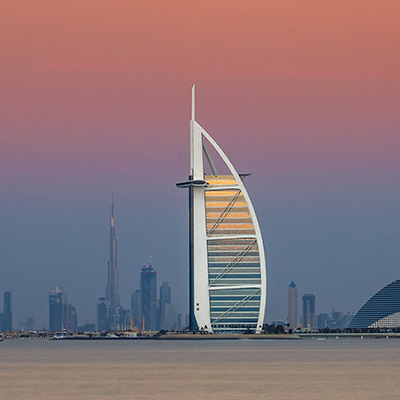 Copy of Dubai Skyline at sunset
