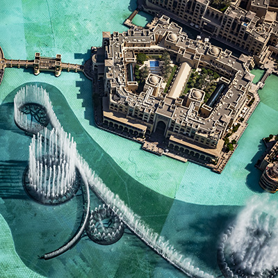 Copy of Dubai Fountains from above