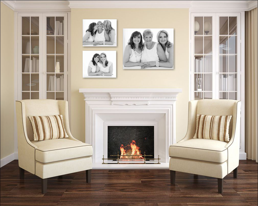 Celebrate your mother daughter portrait session with a cluster of portraits for your home.