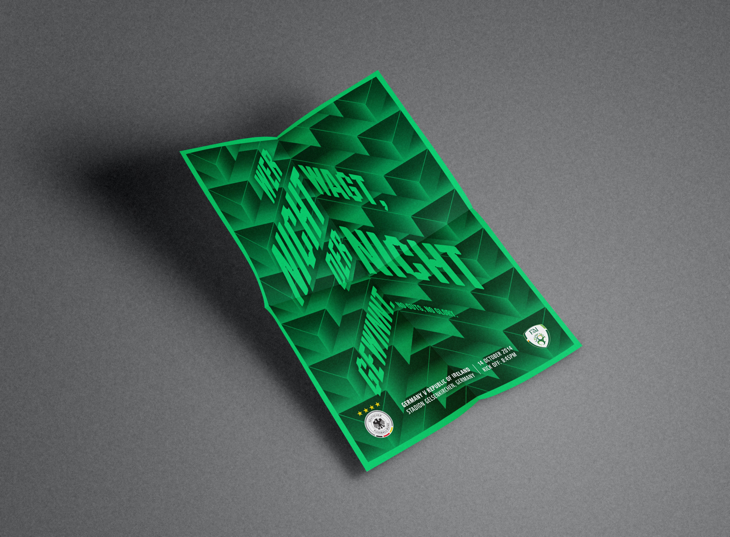 Póg Mo Goal Euro 2016 Qualifiers Posters – Germany V Ireland