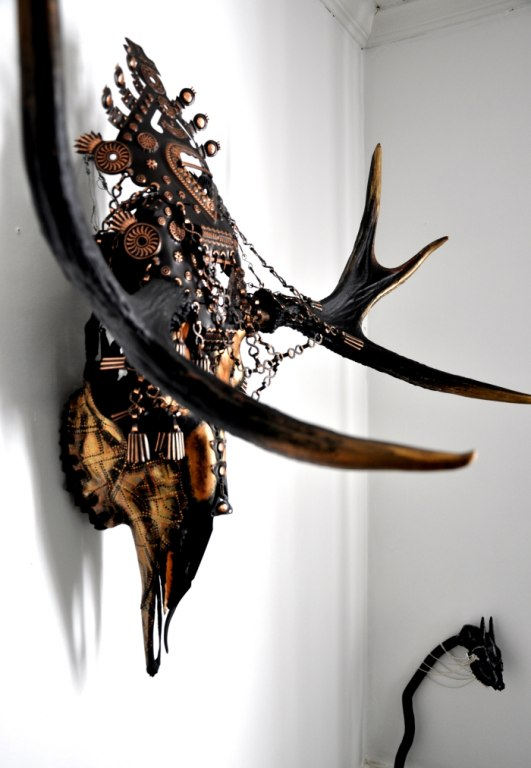 Inca inspired skull art by Petra Shara Stoor