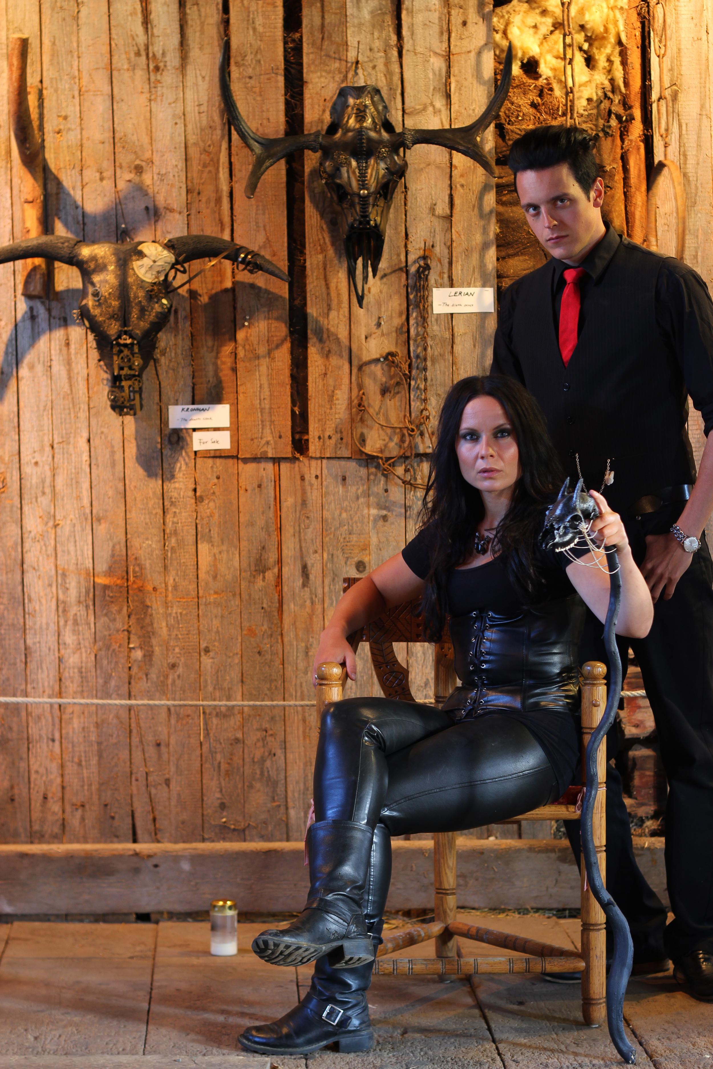 Petra Shara Stoor and Fredrik Fernlund at Skulls & Bones Artwork, Jättendal, Sweden