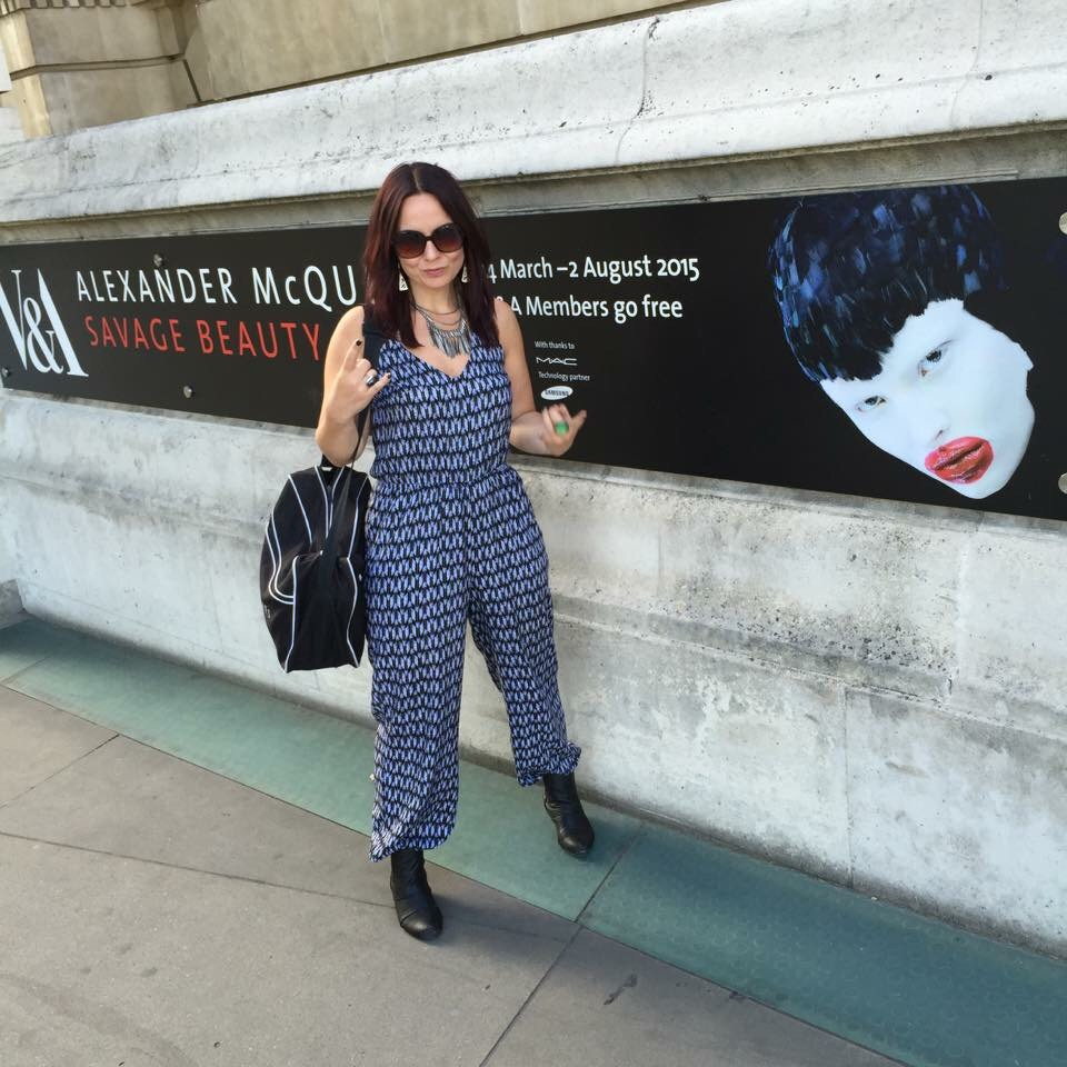 About to enter the Alexander McQueen Savage Beauty Exhibition at Victoria & Albert museum
