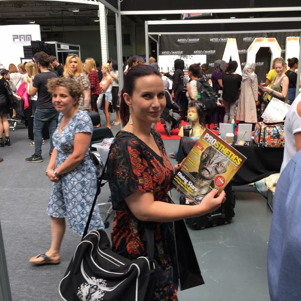 Happy me at the IMATS London! Bought a copy of this magazine! :)