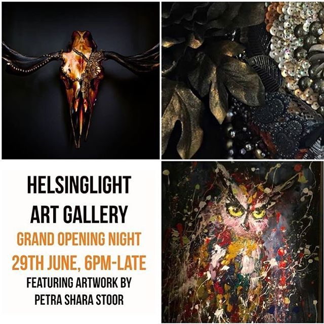 ‪Grand Opening to night of our Helsinglight Art Gallery! 🍾 Welcome!‬ ‪We open 18:00 to Midnight! ‬ ‪Adress: Vattlång 114, 82991 Ilsbo‬ ‪Read more at our fb event: ‪https://www.facebook.com/skullsandbonesartwork ‪#Helsinglight #artgallery #grandopening #Hälsingland‬ #art #grandopenings #exhabition #skull #skullart #petrasharastoor #nordanstig #sweden #artwork #konst #konstgalleri #taxidermy #vattlång