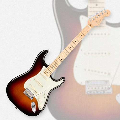 Fender Stratocaster Neck >> Fender American Professional Stratocaster 3 Tone Sunburst Maple Neck