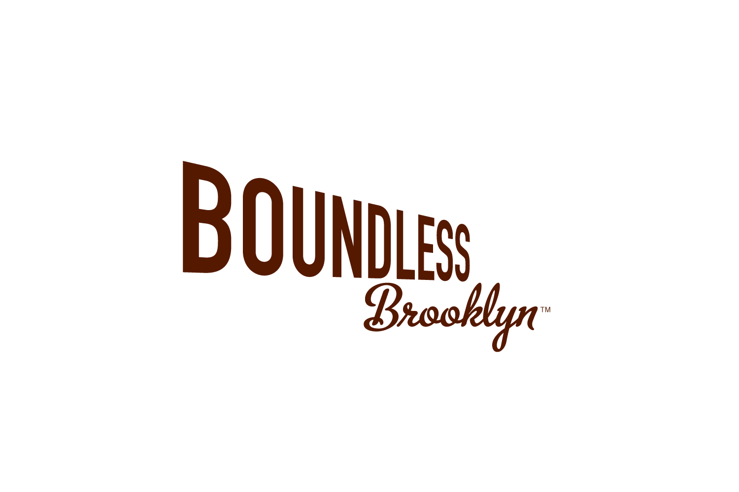 Boundless Brooklyn: logo for a DIY architectural model kit company in Brooklyn, NY