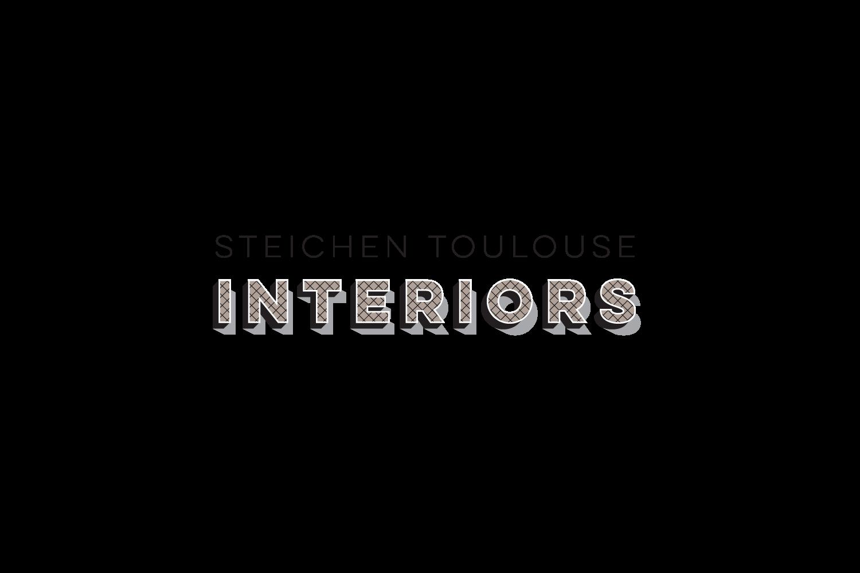 Steichen Toulouse Interiors: logo for interior design consultancy in Paris, France