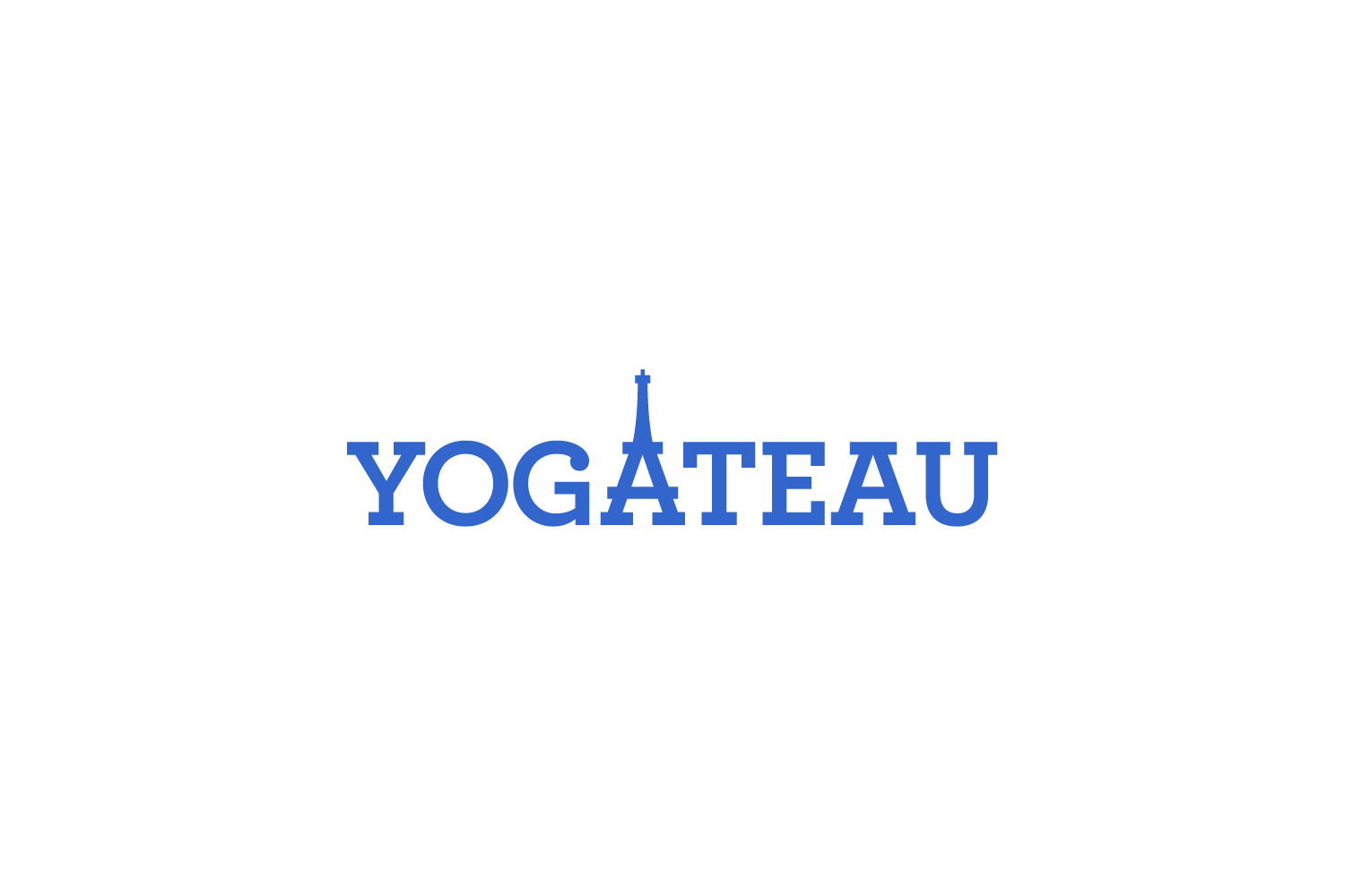 Yogateau: logo for an online guide to yoga + meditation in Paris, France