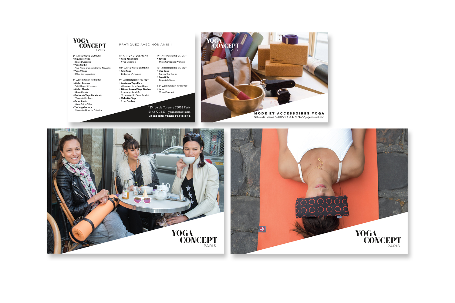 Yoga Concept collateral: postcards
