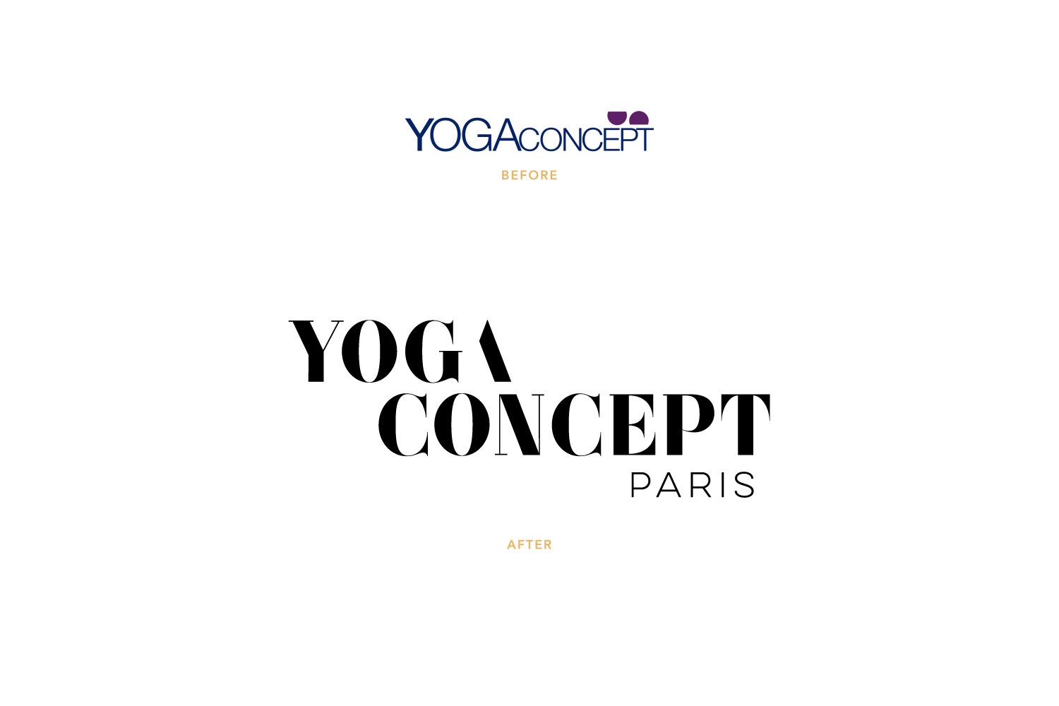 Yoga Concept logo: before + after