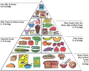 This was the USDA food pyramid taught in schools for many years and it has now been proven to be WRONG!
