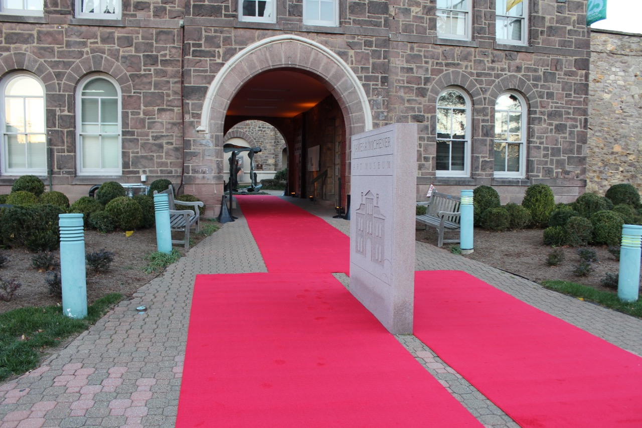 Custom red carpet for James A. Michener Art Museum