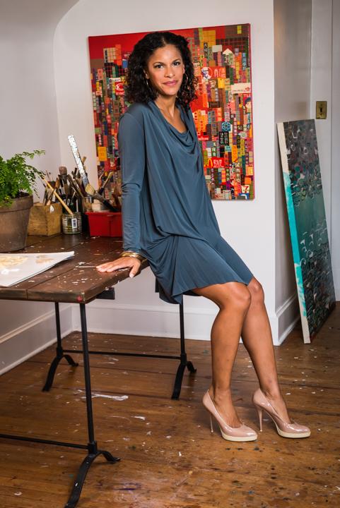 Brooke Fierce Bronner in her Cleveland Park, Washington, DC artist studio.
