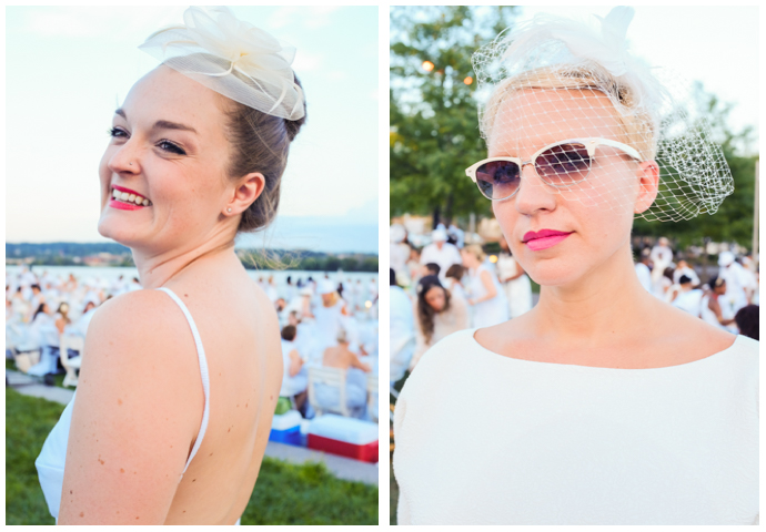 Fascinators and veils were the fashion sets choice way of adding an element of fantasy to their Diner En Blanc ensembles.