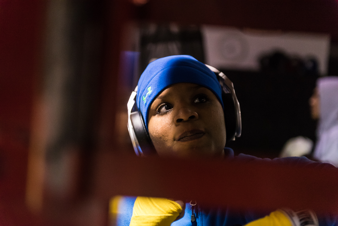 Since making the jump to professional boxing after losing her spot on the Olympic team to the conventionally pretty Marlan Esparza, Douglas has focused on getting fights and making a living at boxing. While men's winning pots start around $30,000, women only make $5,000 for an equivalent win.