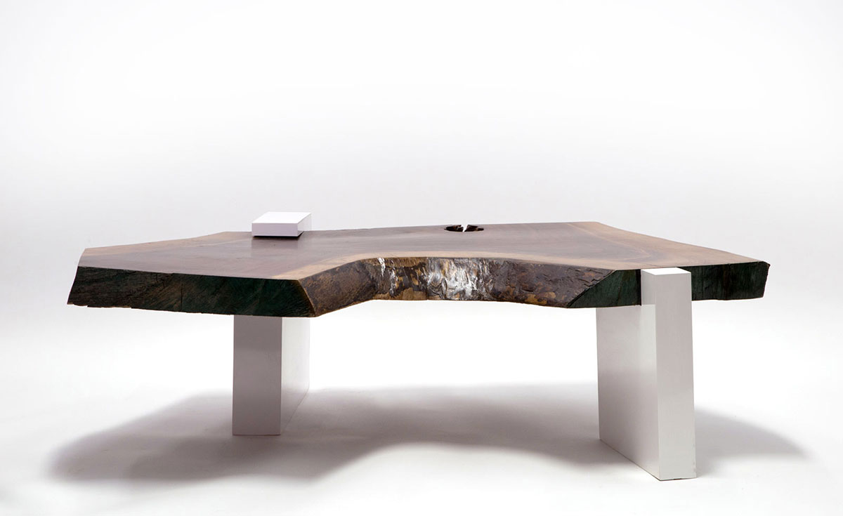 SENTIENT Walnut Live Edge Coffee Table