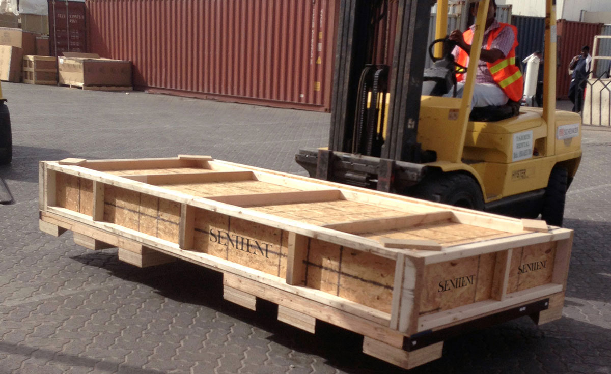 Shipping and Crating Freight SENTIENT Live Edge Tables
