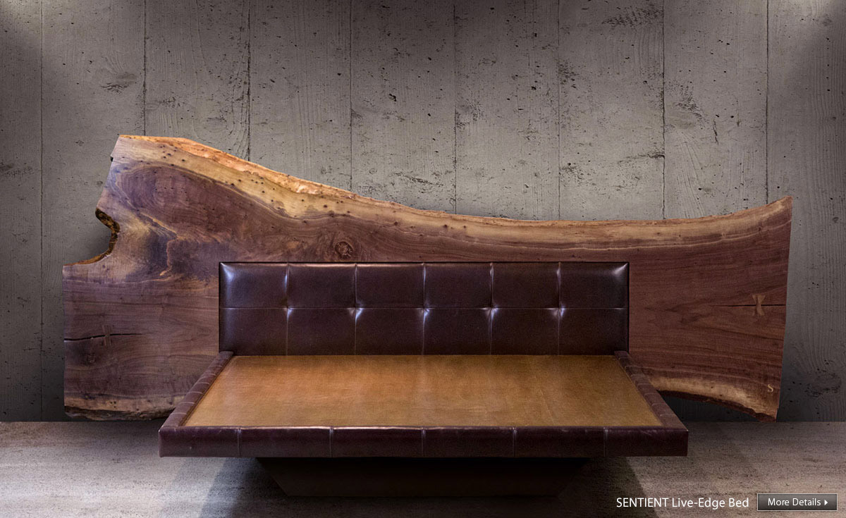 SENTIENT Live Edge Bed