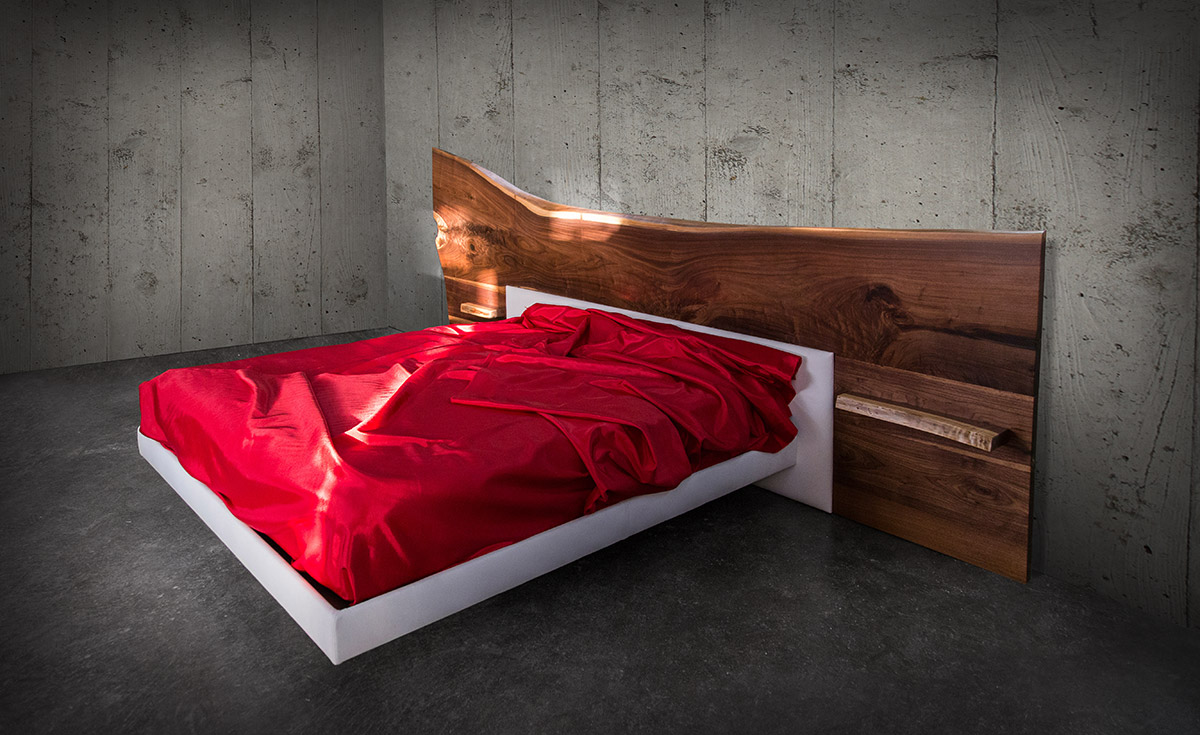 Sentient Live Edge Bed