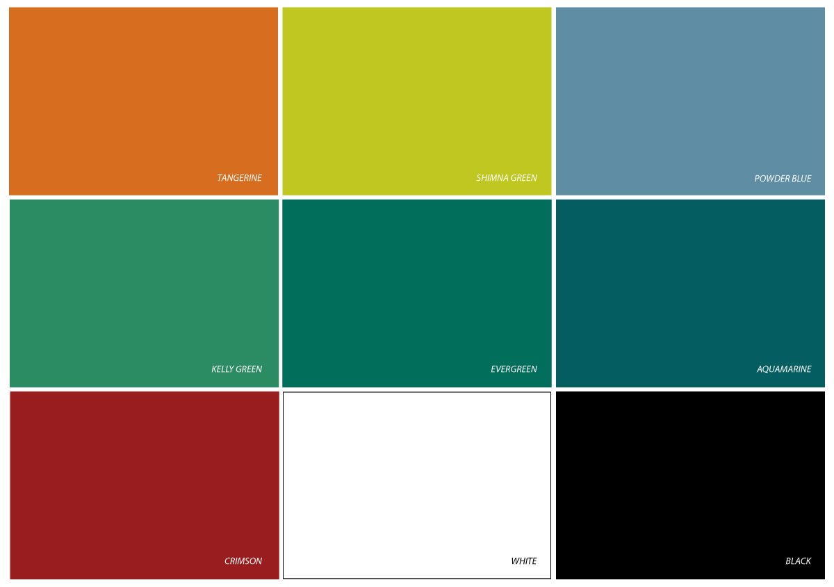 Color options for sliding doors