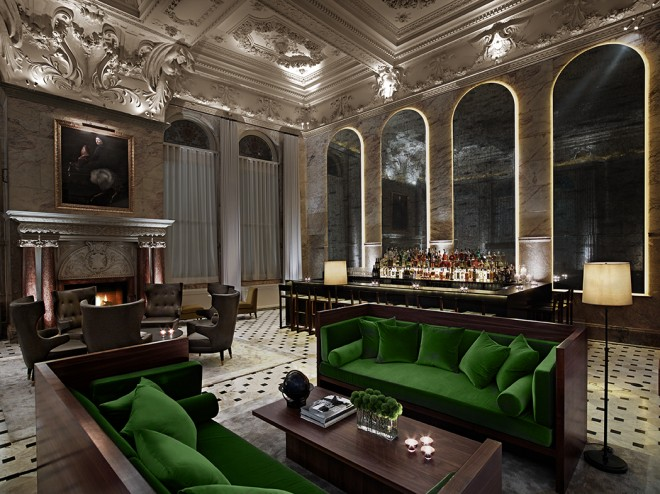 Sofas at Edition Hotel London by Sentient Furniture