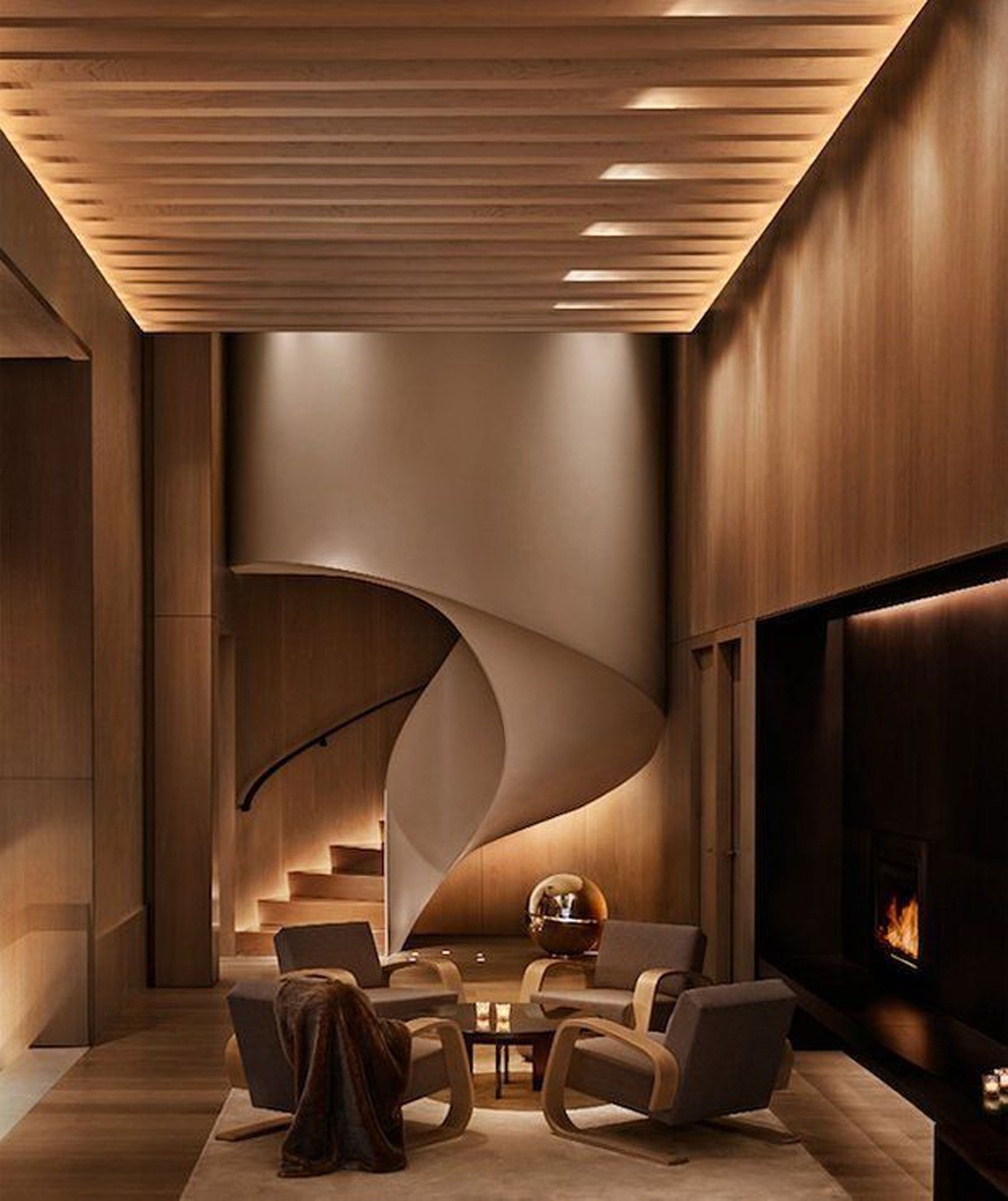 Coffee Table at Edition Hotel New York by Sentient Furniture