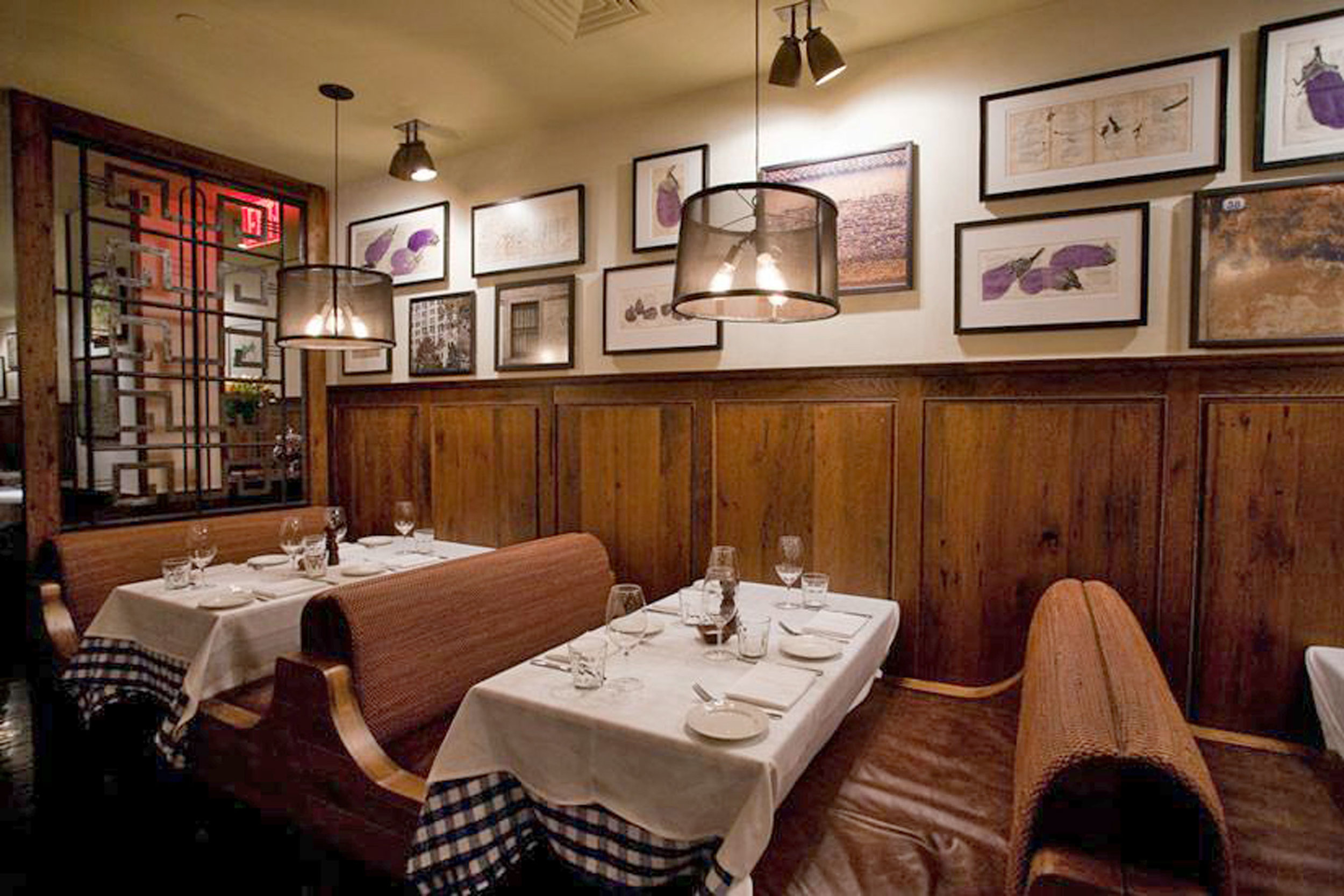 Custom Banquettes, Booths and Tables for Maialino's Restaurant at Gramercy Park Hotel by Sentient Furniture