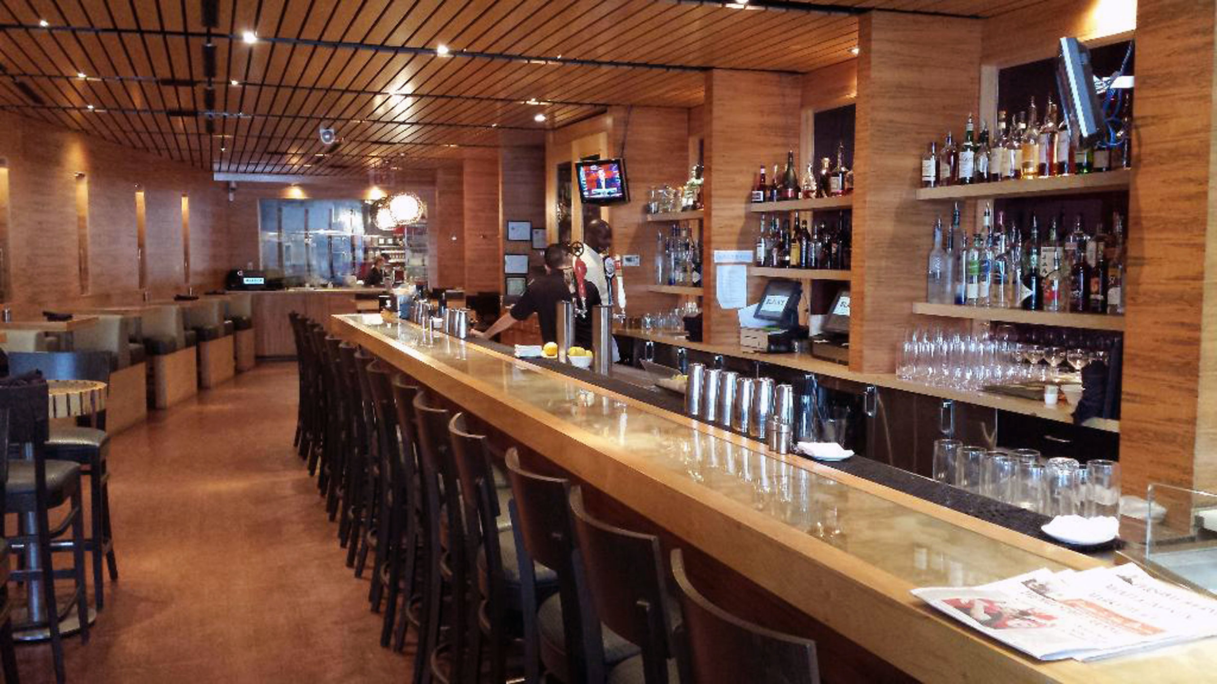 Banquettes at Black's Bar and Kitchen in Bethesda MD by Sentient Furniture