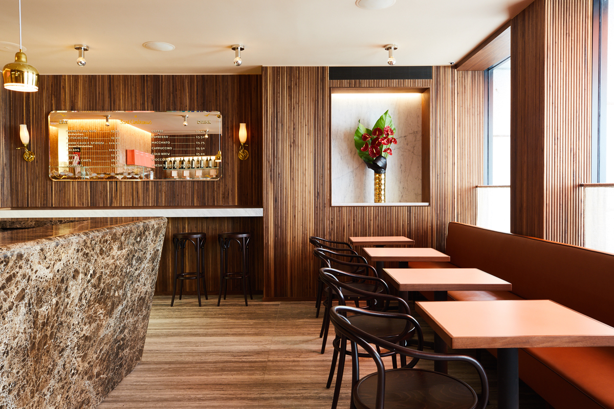 Tables at St. Ambroese Cafe Madison Avenue by Sentient Furniture