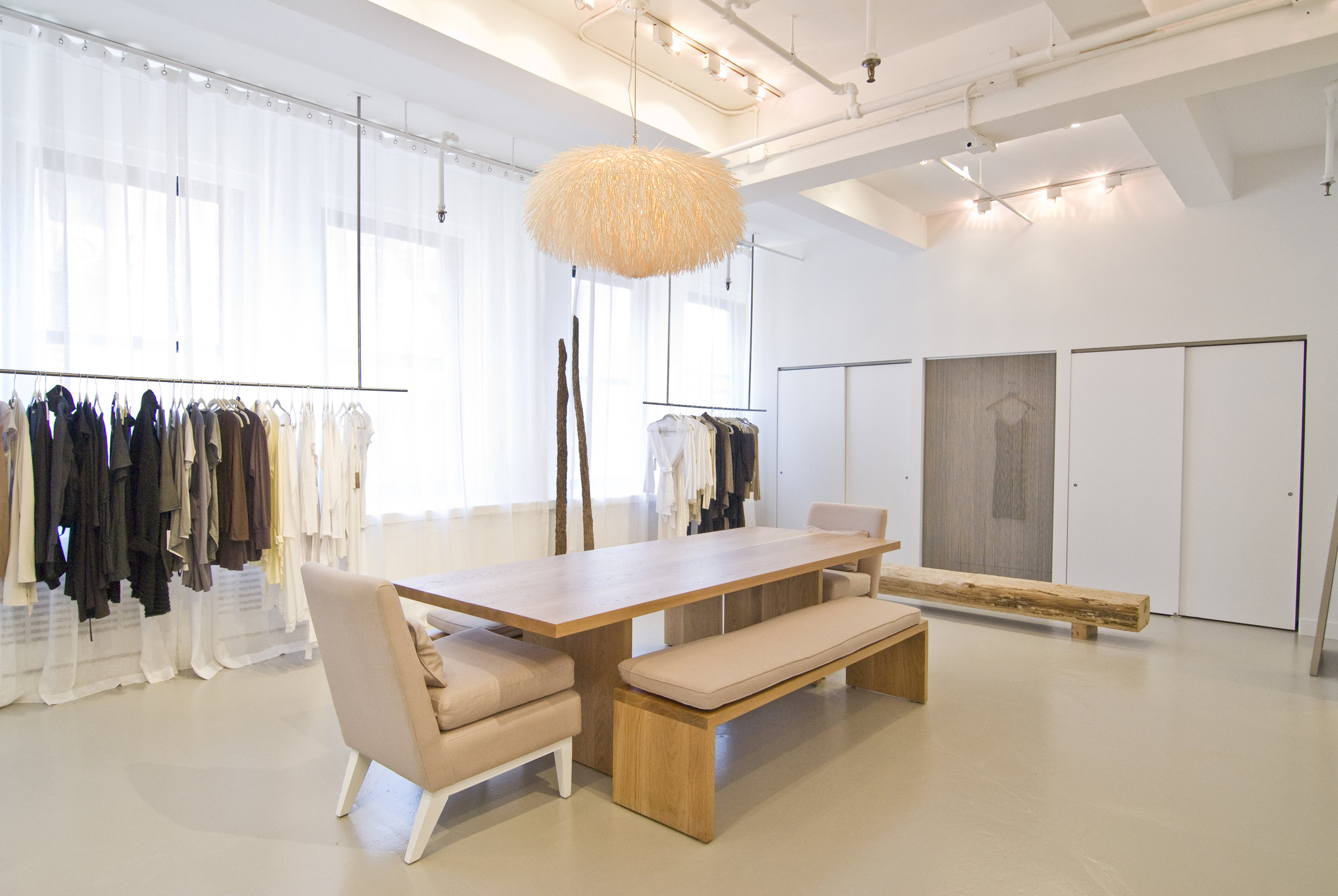 White Oak Table for Donna Karan Urban Zen Design Office by Sentient Furniture
