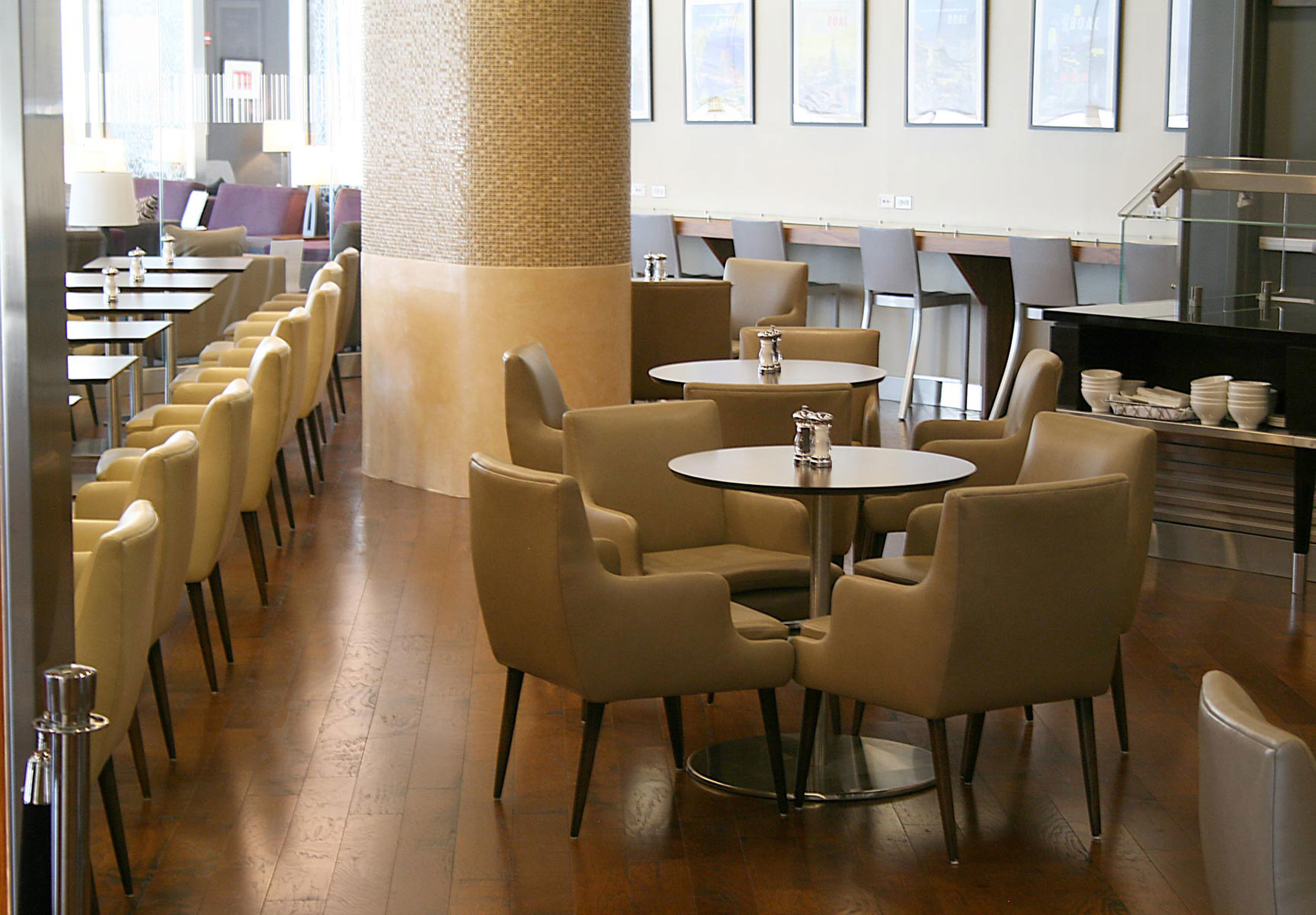 Furniture and Millwork at British Airways First Class Lounge Newark Airport by Sentient Furniture
