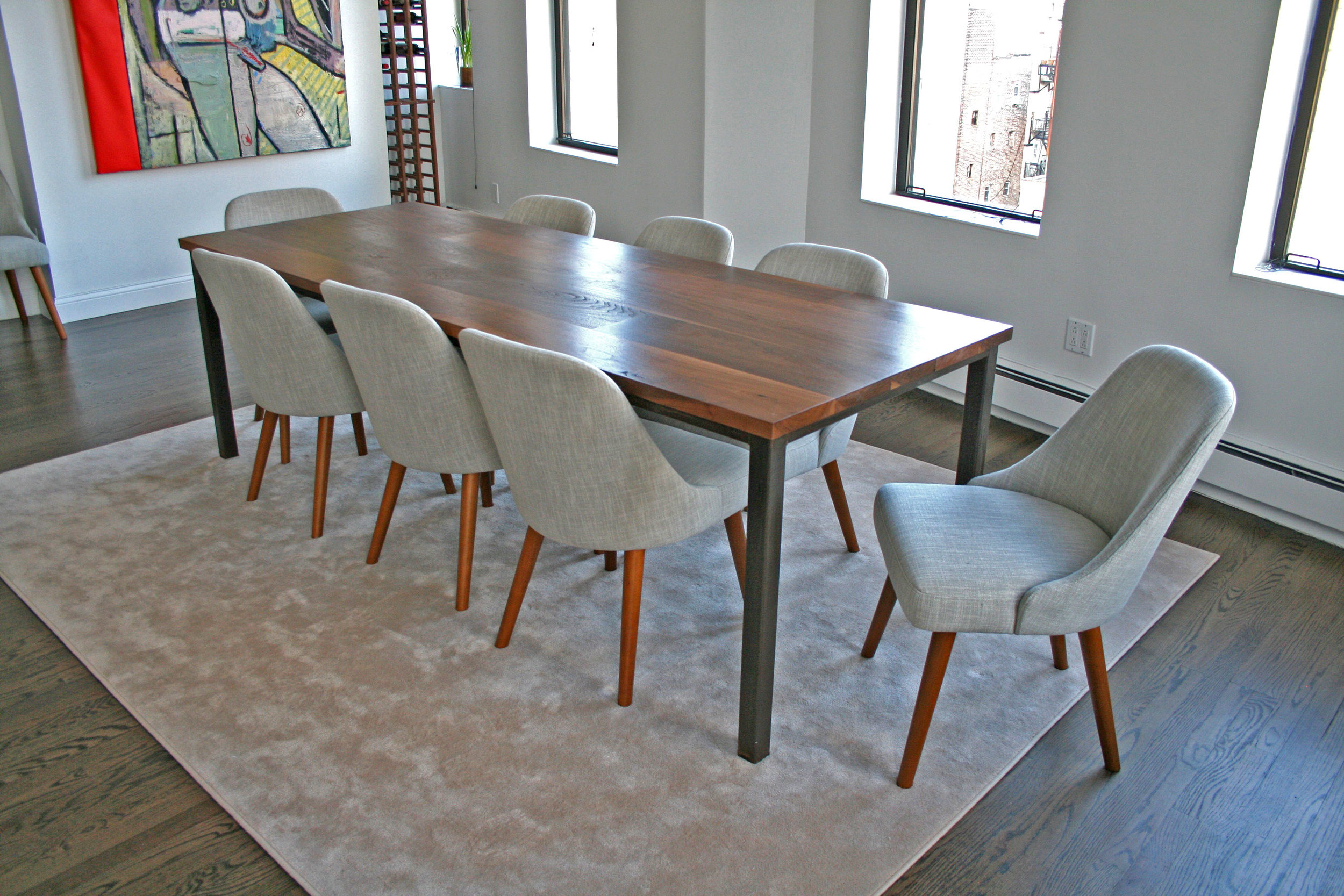 Custom Walnut Dining Table by Sentient
