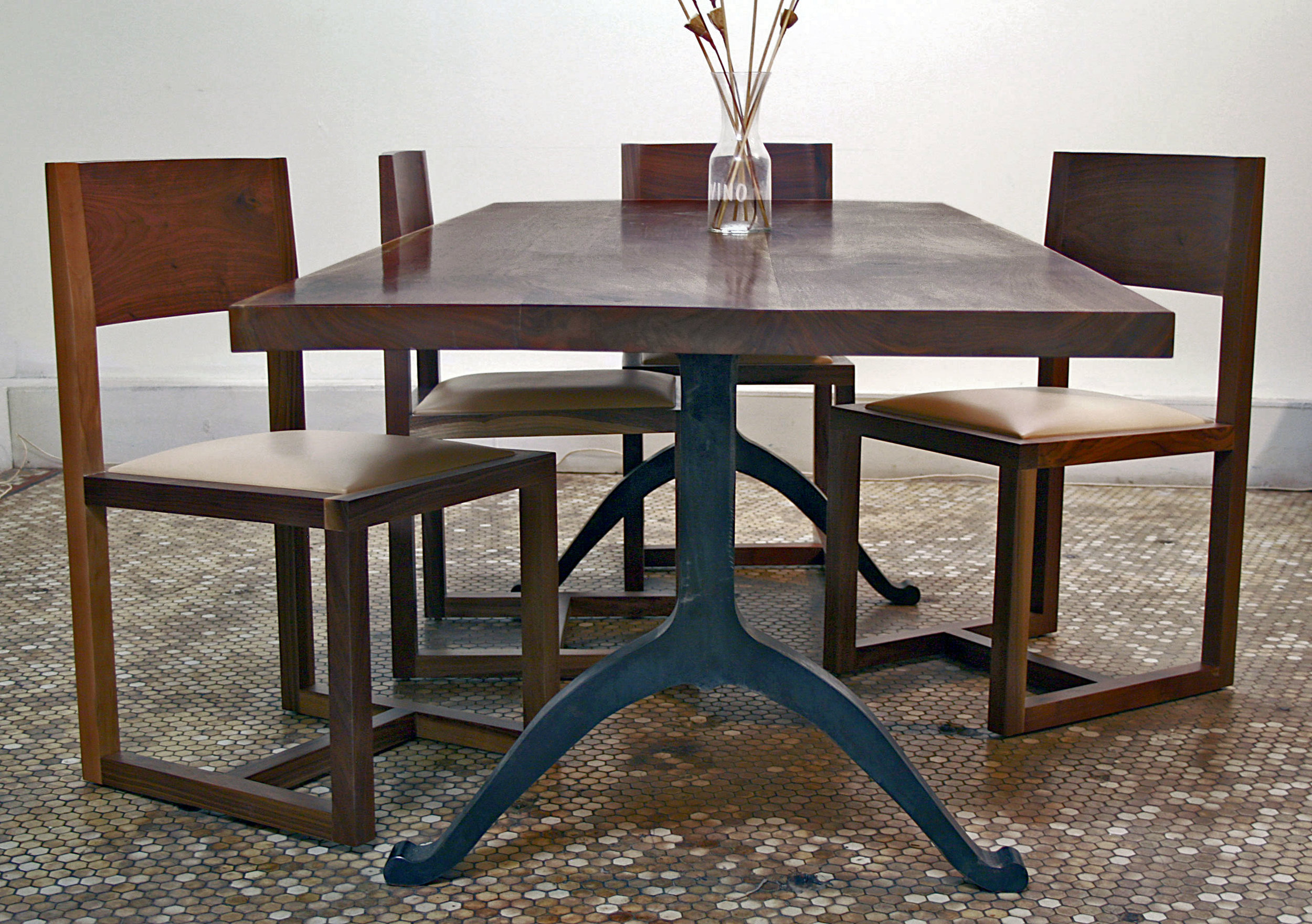 Communal Table with wishbone legs