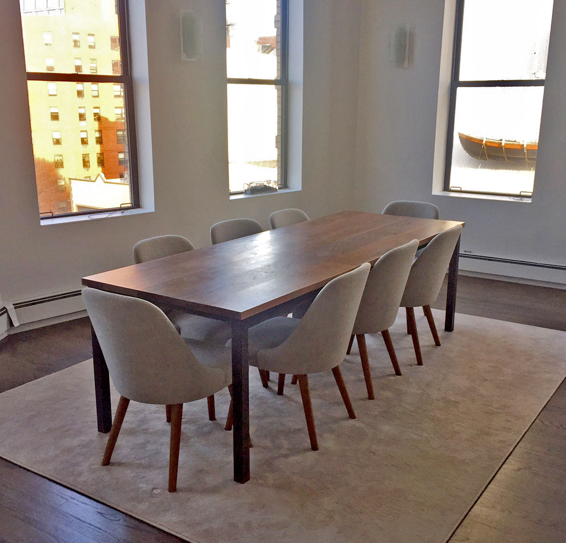Copy of Custom Walnut and Blackened Steel Rectangle Table