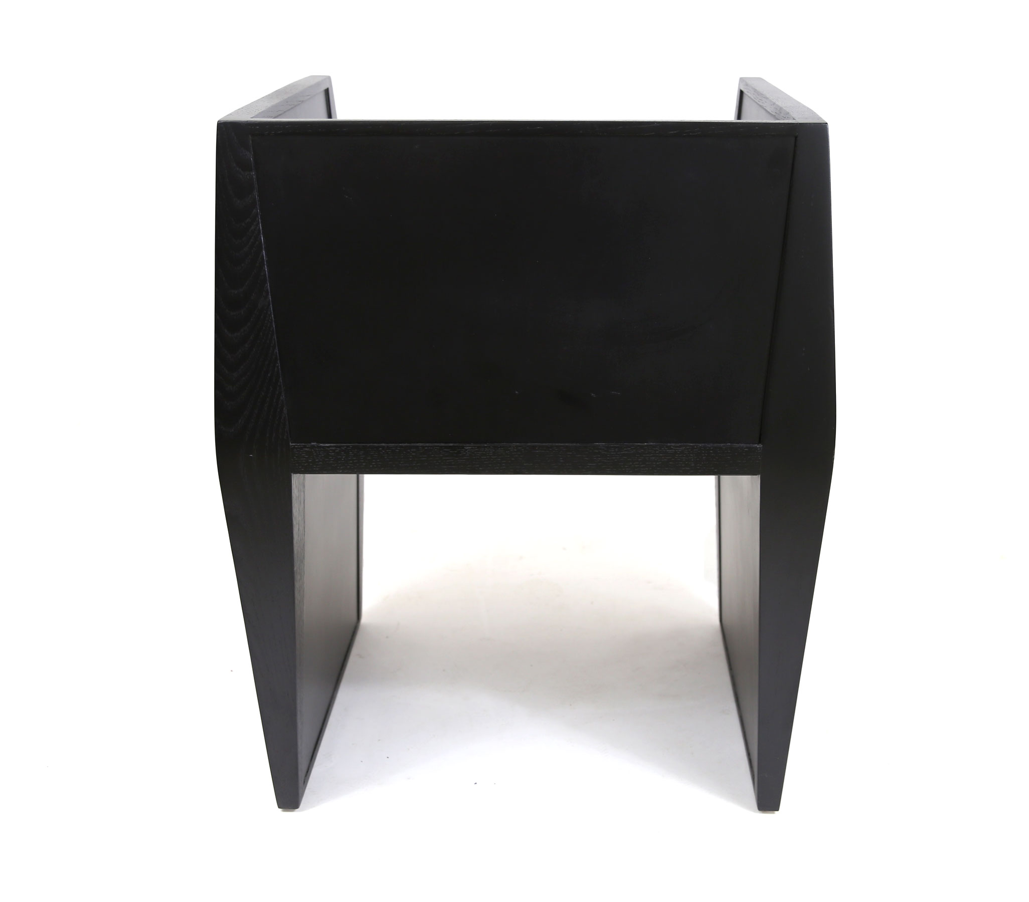 Sapience Chair in Black w/Grey Vinyl Seat