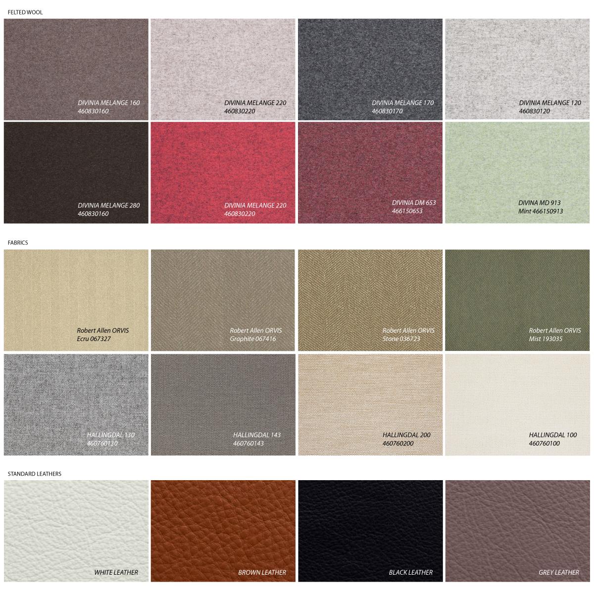 Standard Upholstery Options