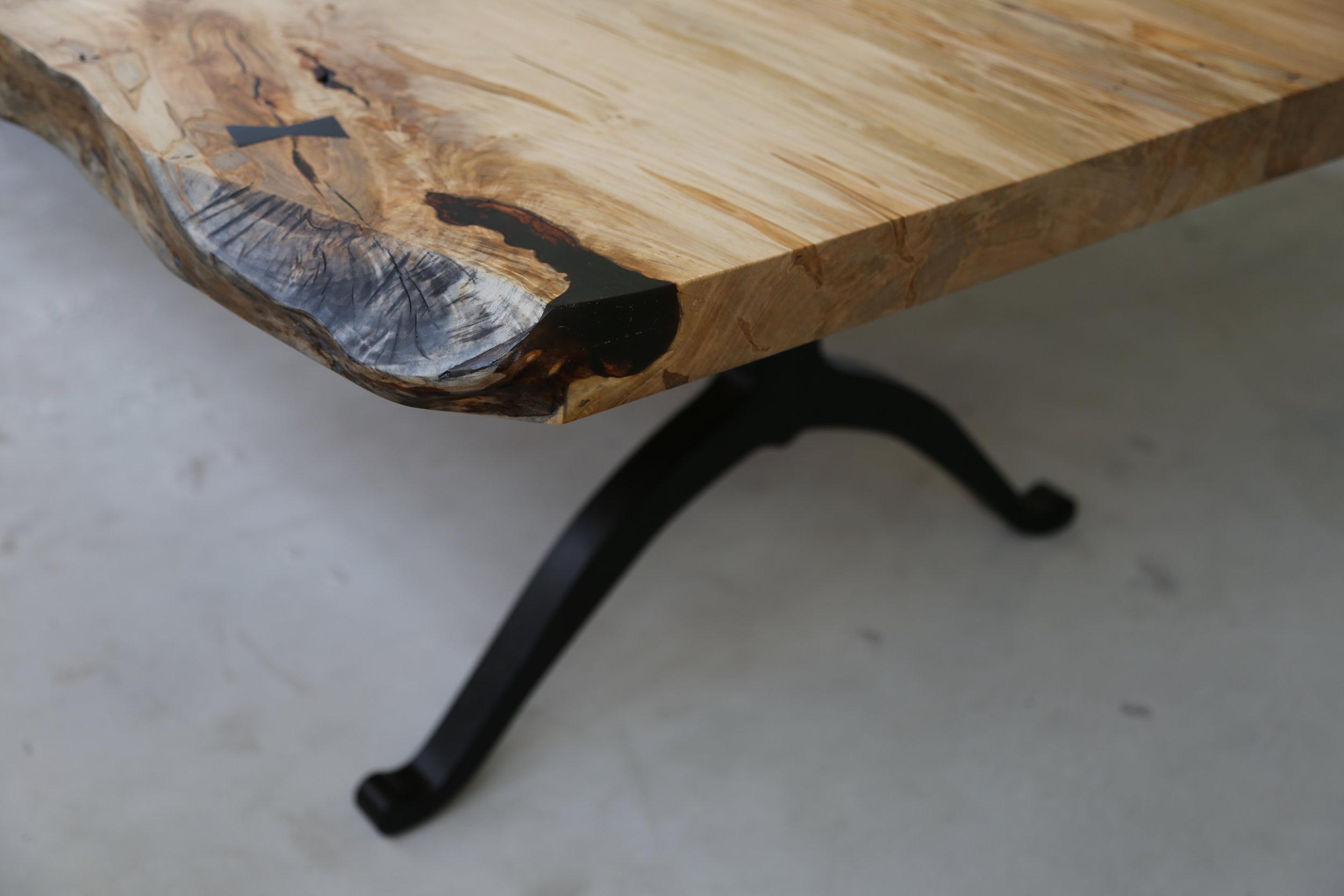 Live Edge Ambrosia Maple Dining Table